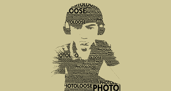 Text portrait effect , portrait effect , Text effect , ตัวอักษรในภาพ